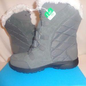 Columbia BOOTS Snow Winter Ice Maiden Grey 9/10/11